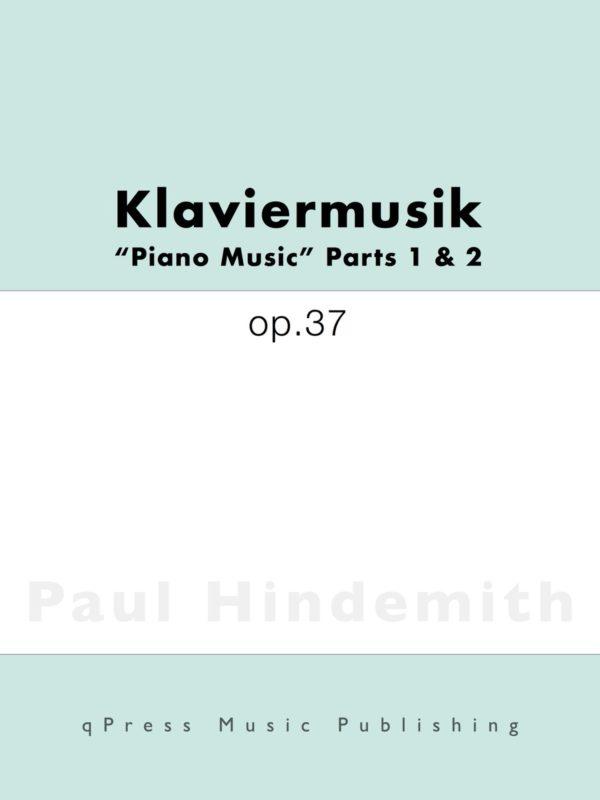 Hindemith, Klaviermusik, Op.37-p01