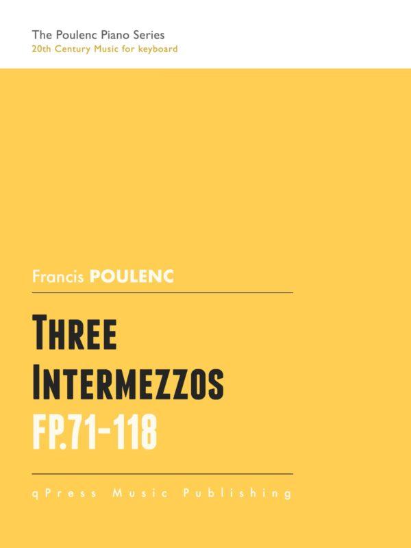 Poulenc, Three Intermezzos for Piano-p01