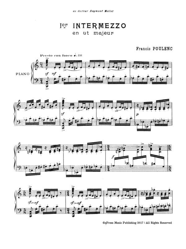 Poulenc, Three Intermezzos for Piano-p02