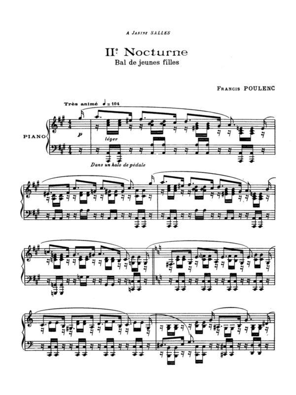 Poulenc, 8 Nocturnes, FP 56-p07