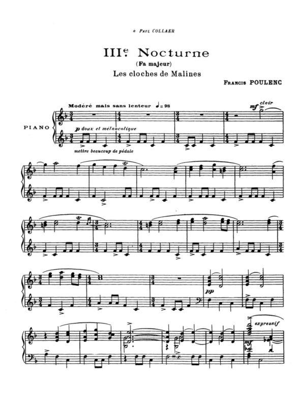 Poulenc, 8 Nocturnes, FP 56-p10