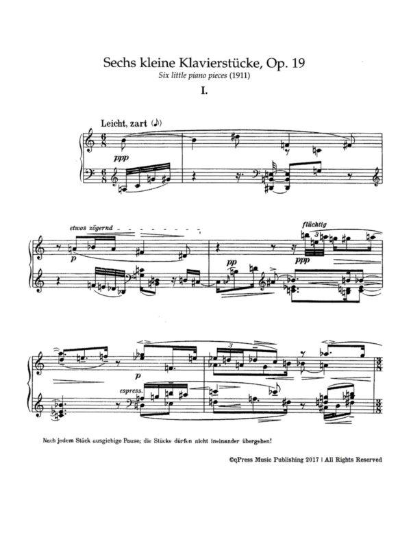 Schoenberg, 6 Little Piano Pieces, Op.19-p2
