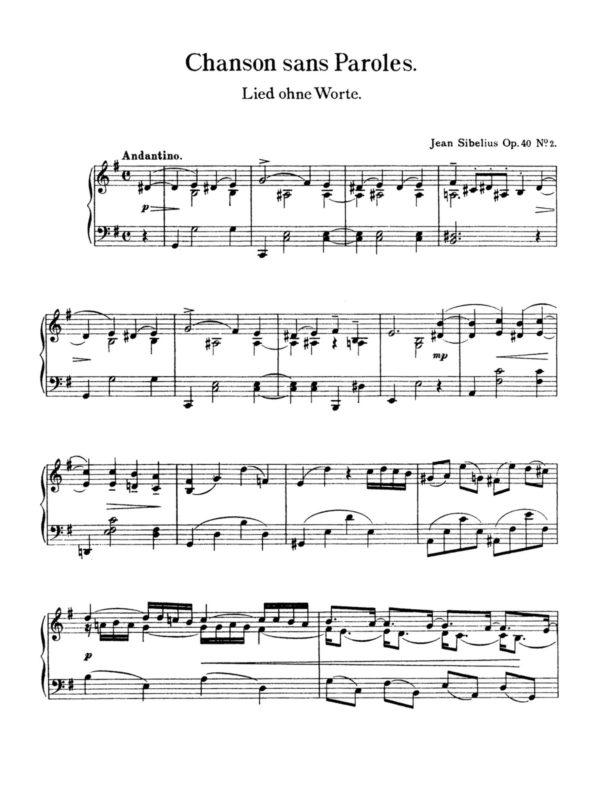 Sibelius, 10 Pensées Lyriques, Op.40-p04