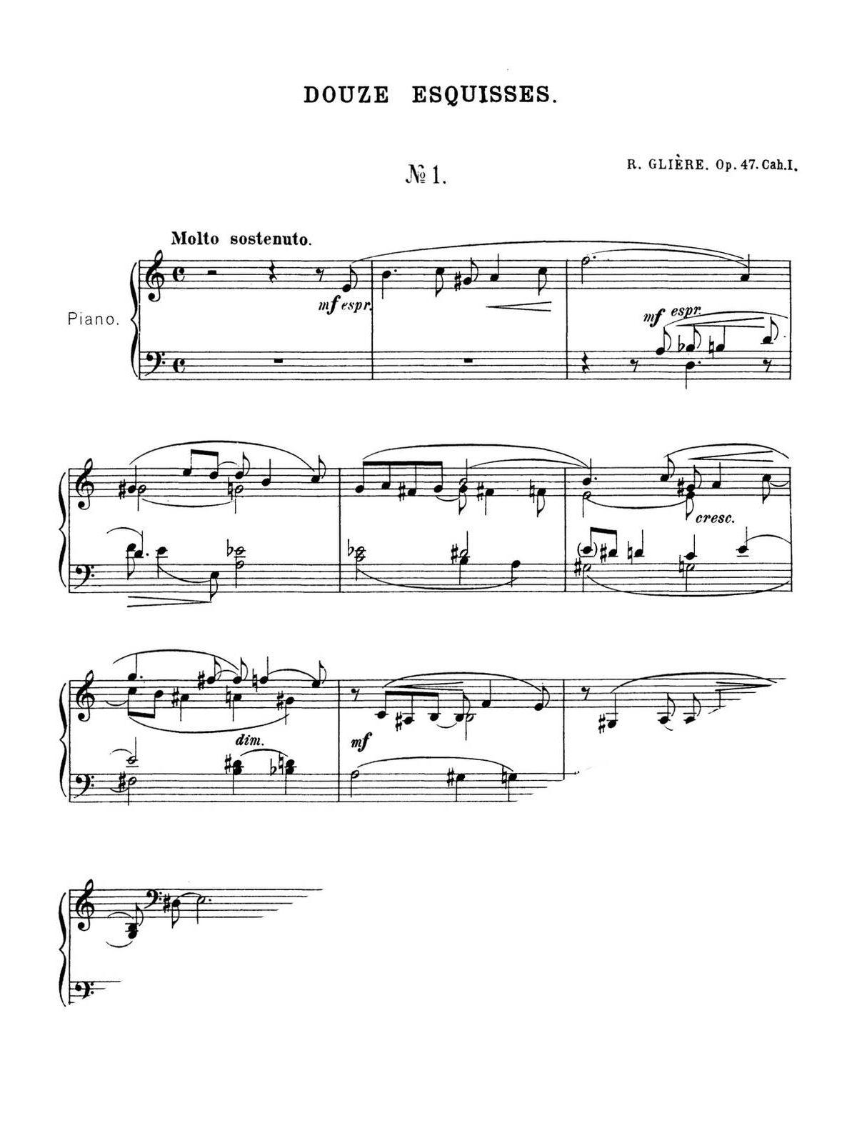 Gliere, 12 Esquisses, Op.47-p02