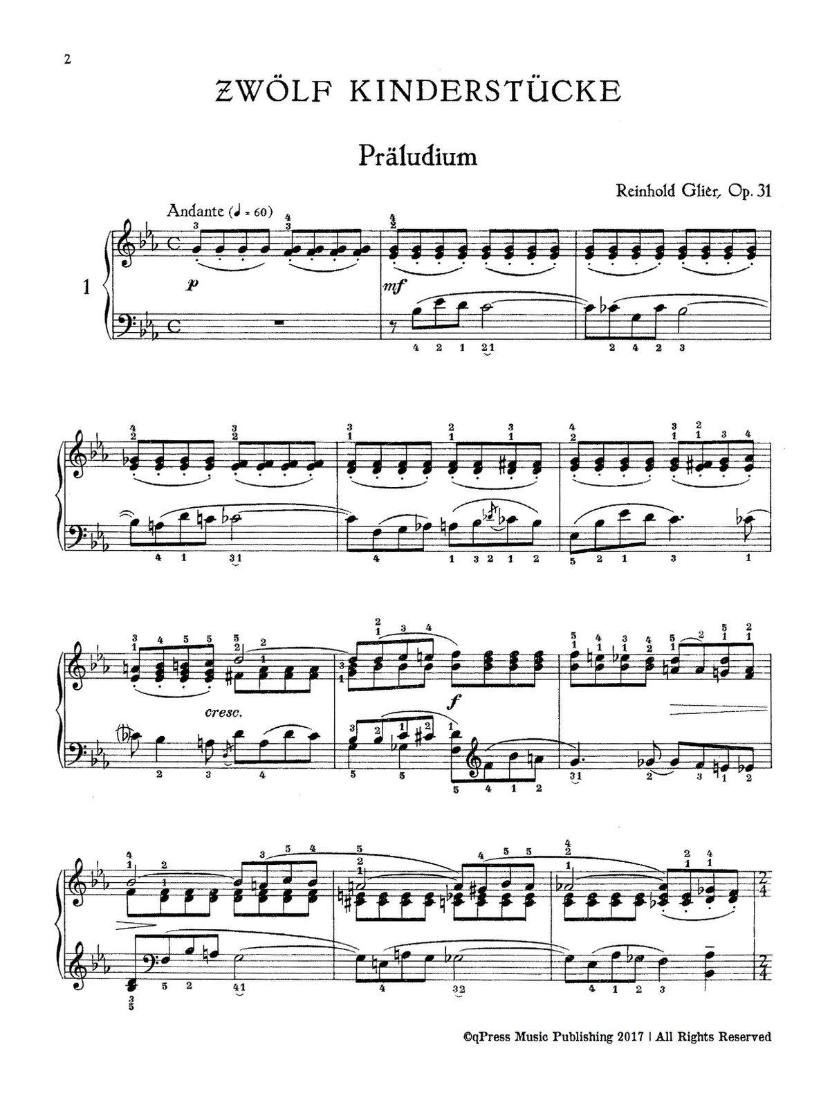 Gliere, 12 Pièces Enfantines, Op.31-p04