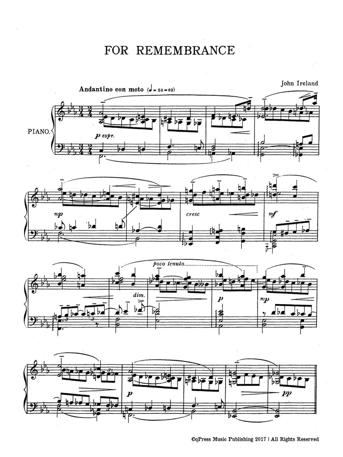 Ireland, 2 Piano Pieces-p08