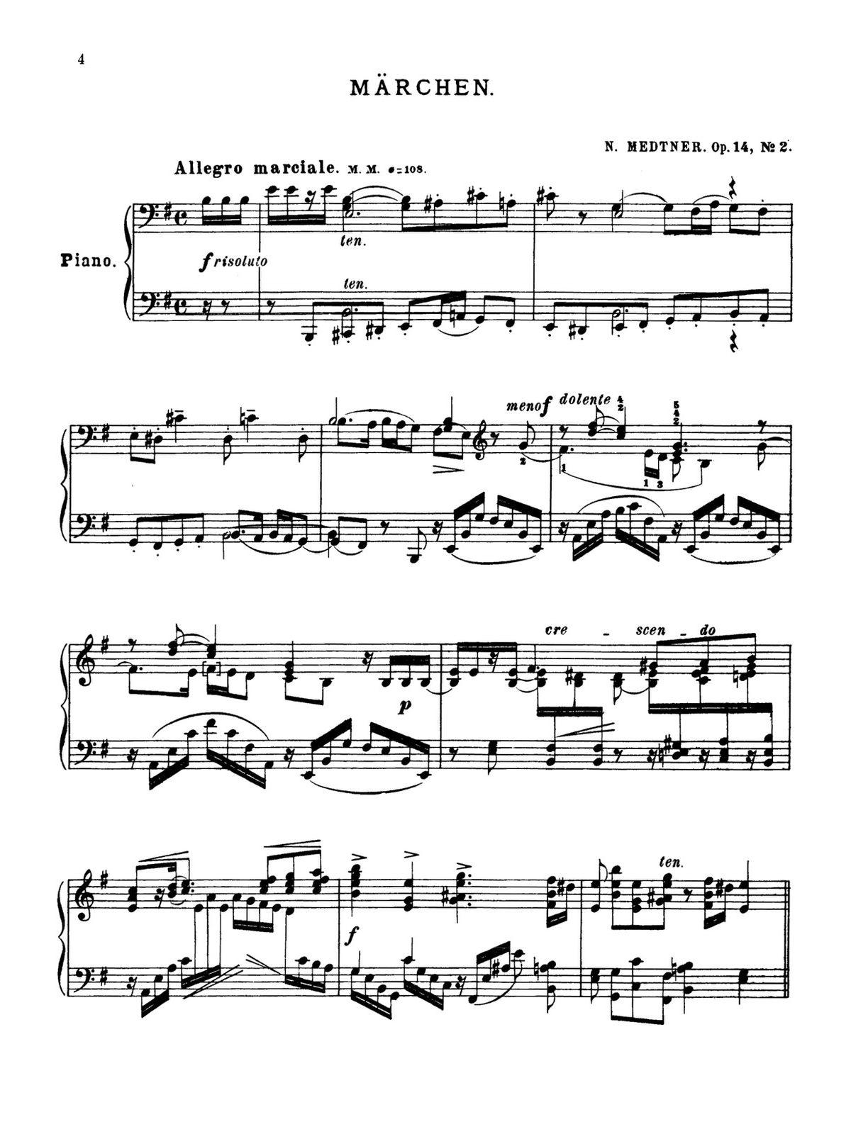 Medtner, 2 Tales, Op.14-p06