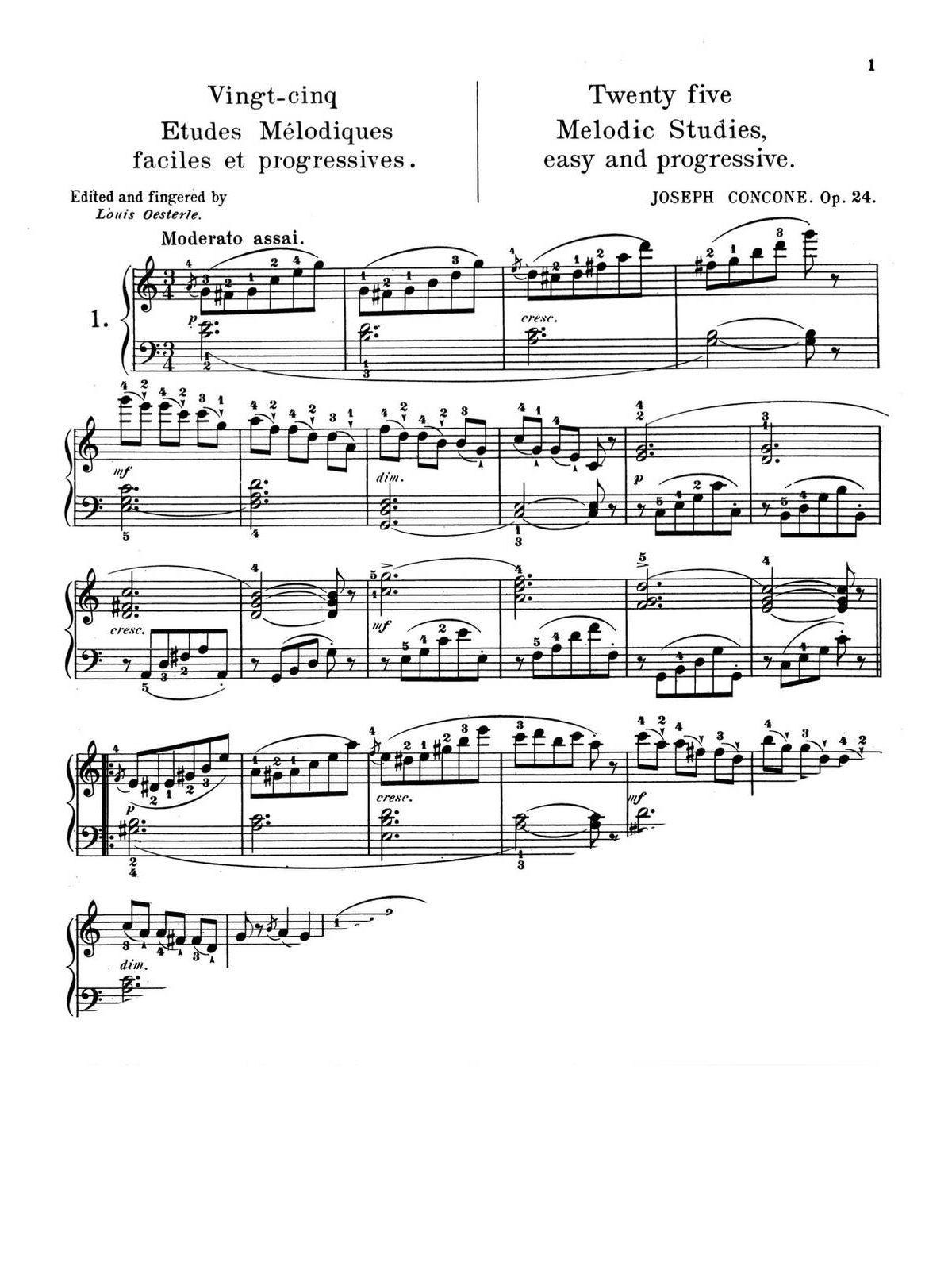 Concone, 25 Melodic Studies, Op.24-p03
